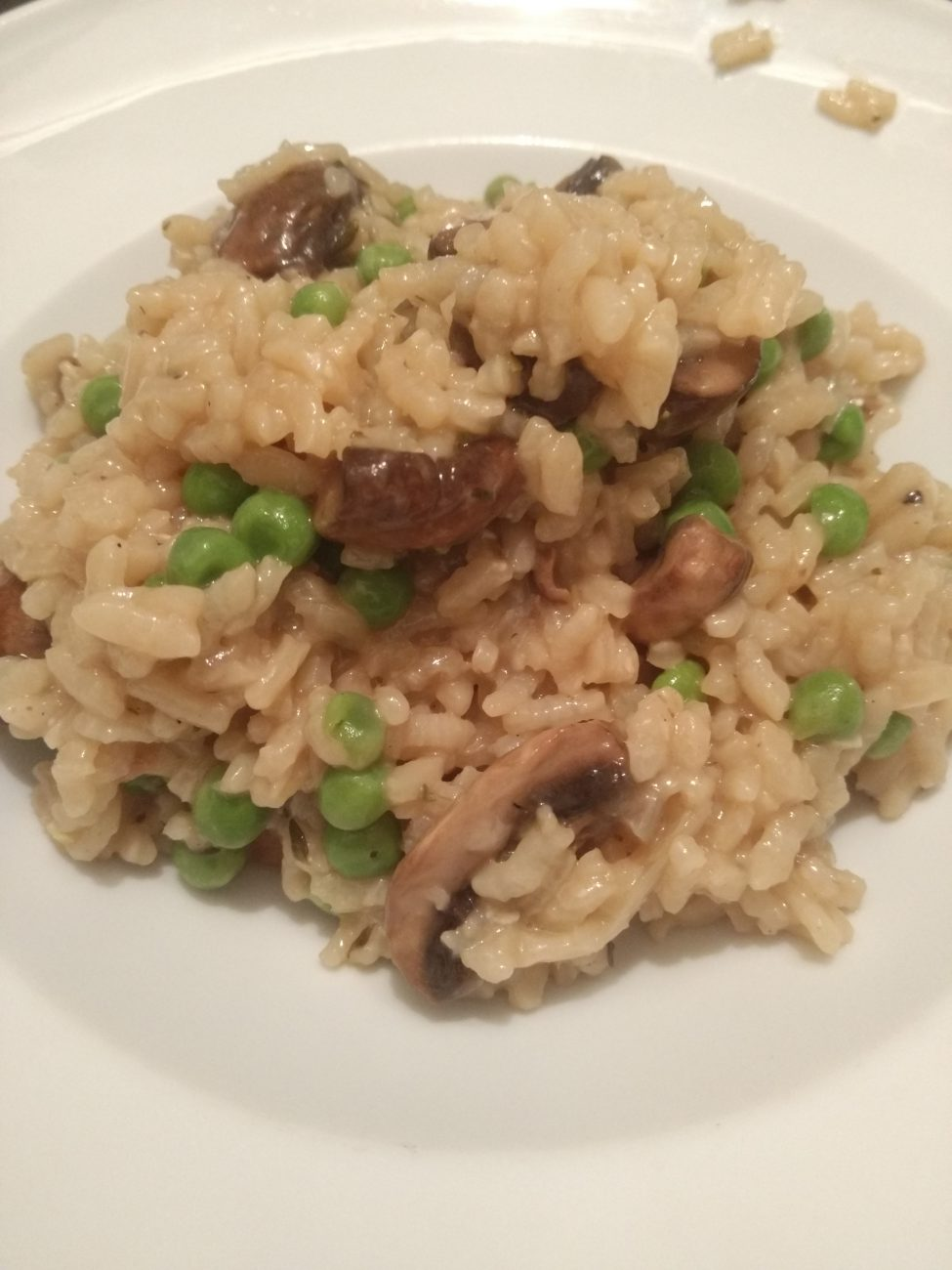 Oven baked Mushroom Peas Risotto