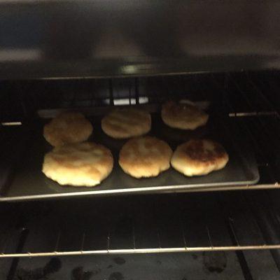 Arepas in oven