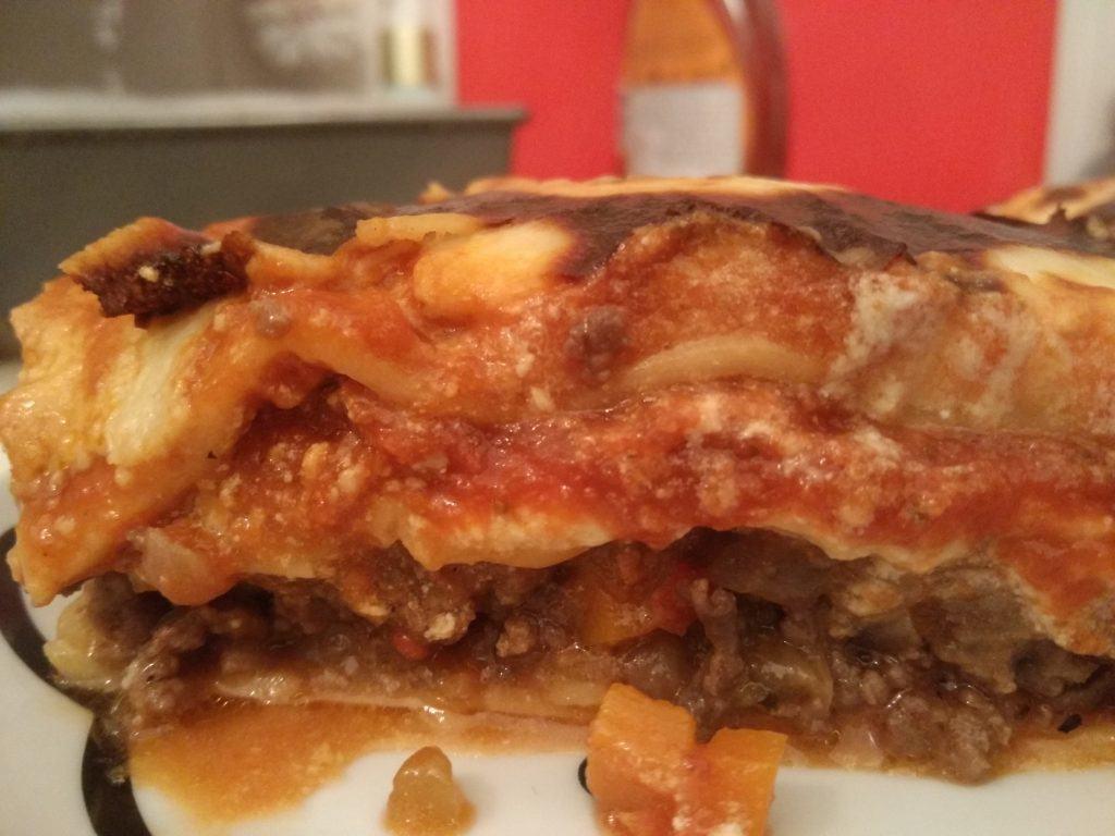 meat ricotta lasagna