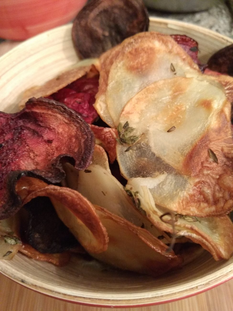 Baked potato and Beet Chips