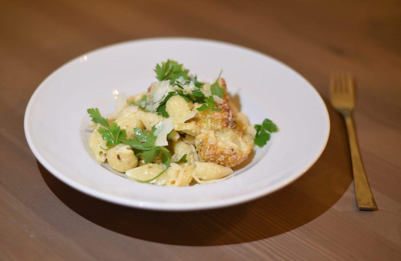 Lemon Cauliflower Conchiglie pasta