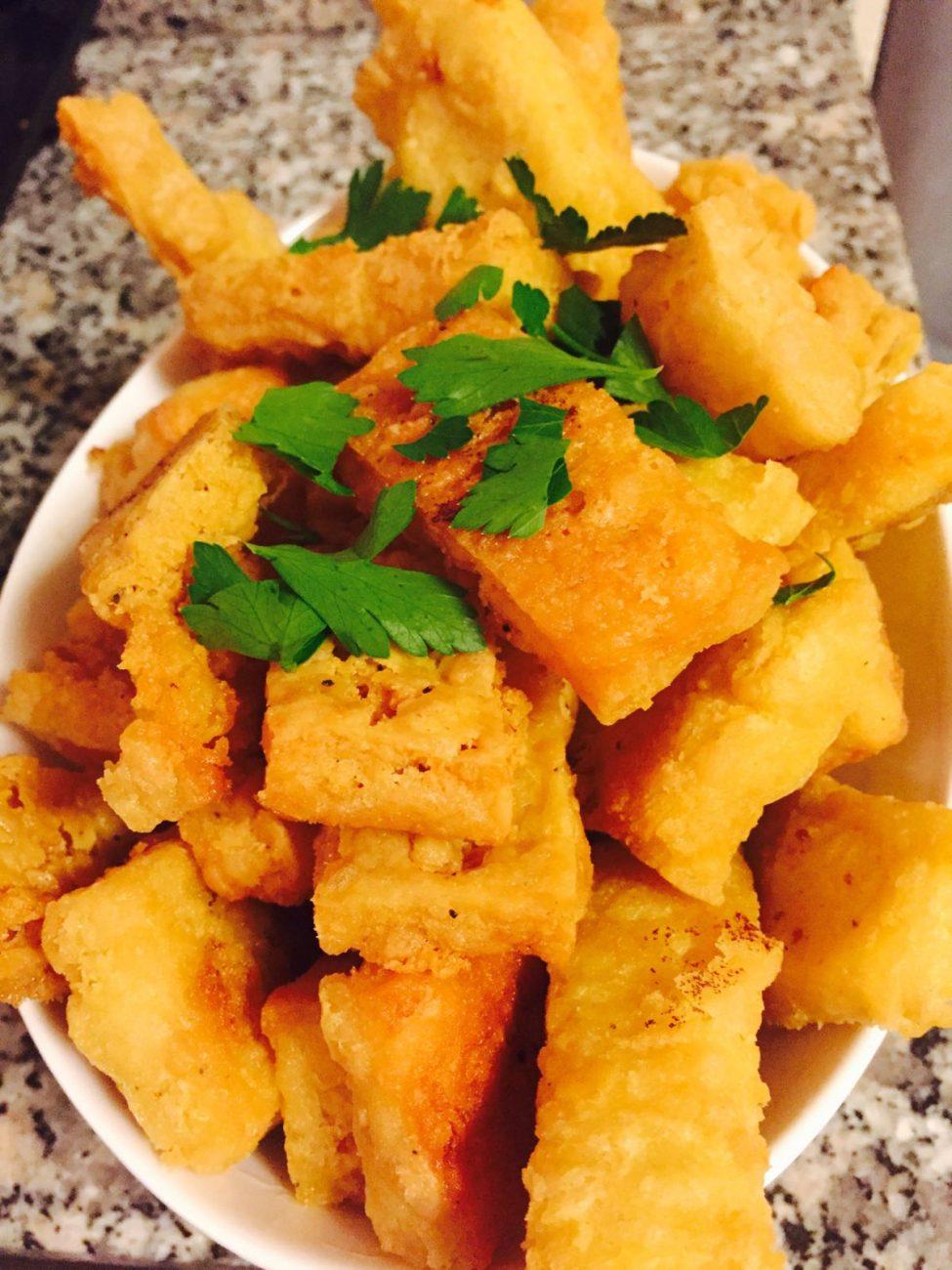 Crunchy Mediterranean Chickpea Fries
