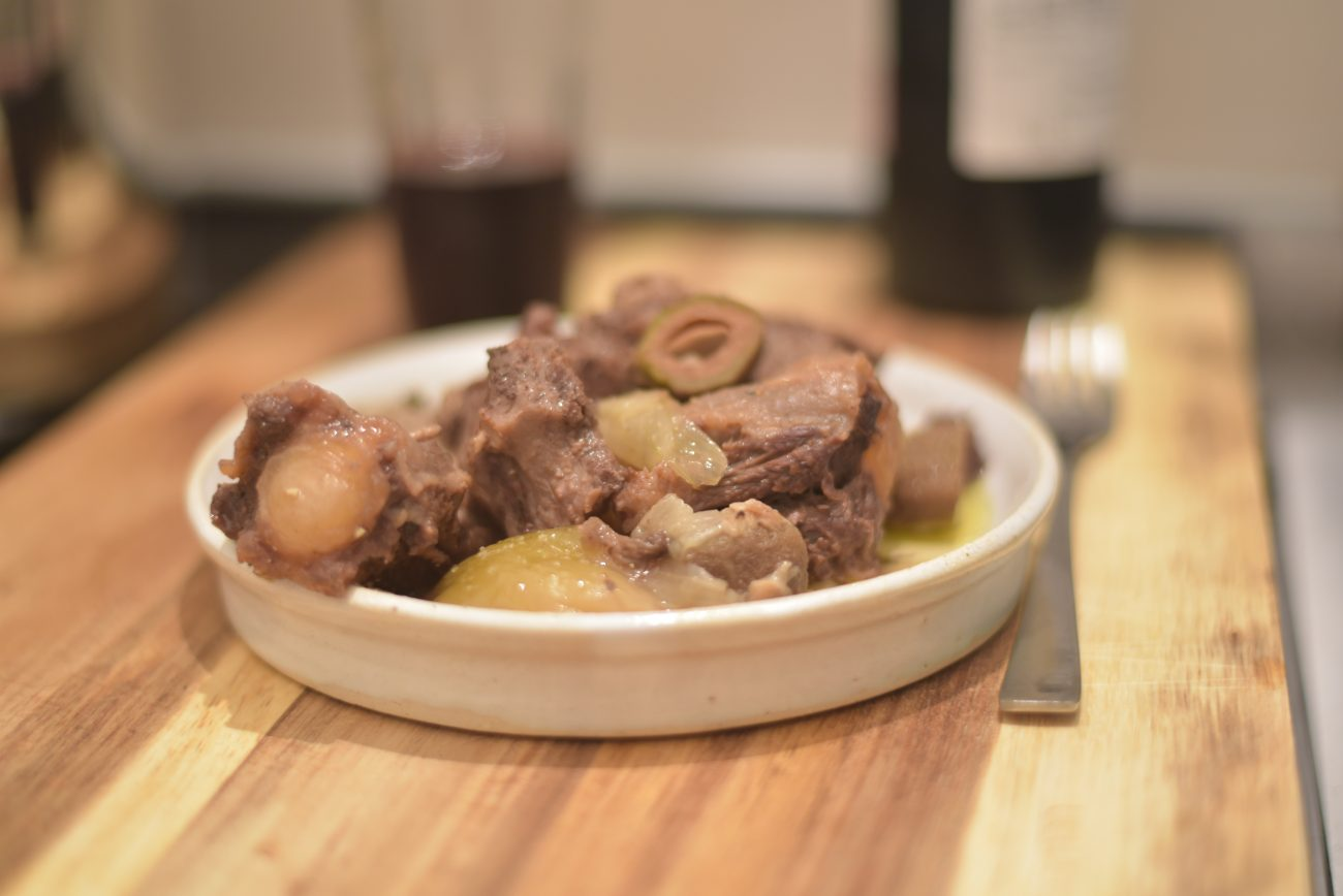 Oxtail and Green Almond pressure Cooker Stew
