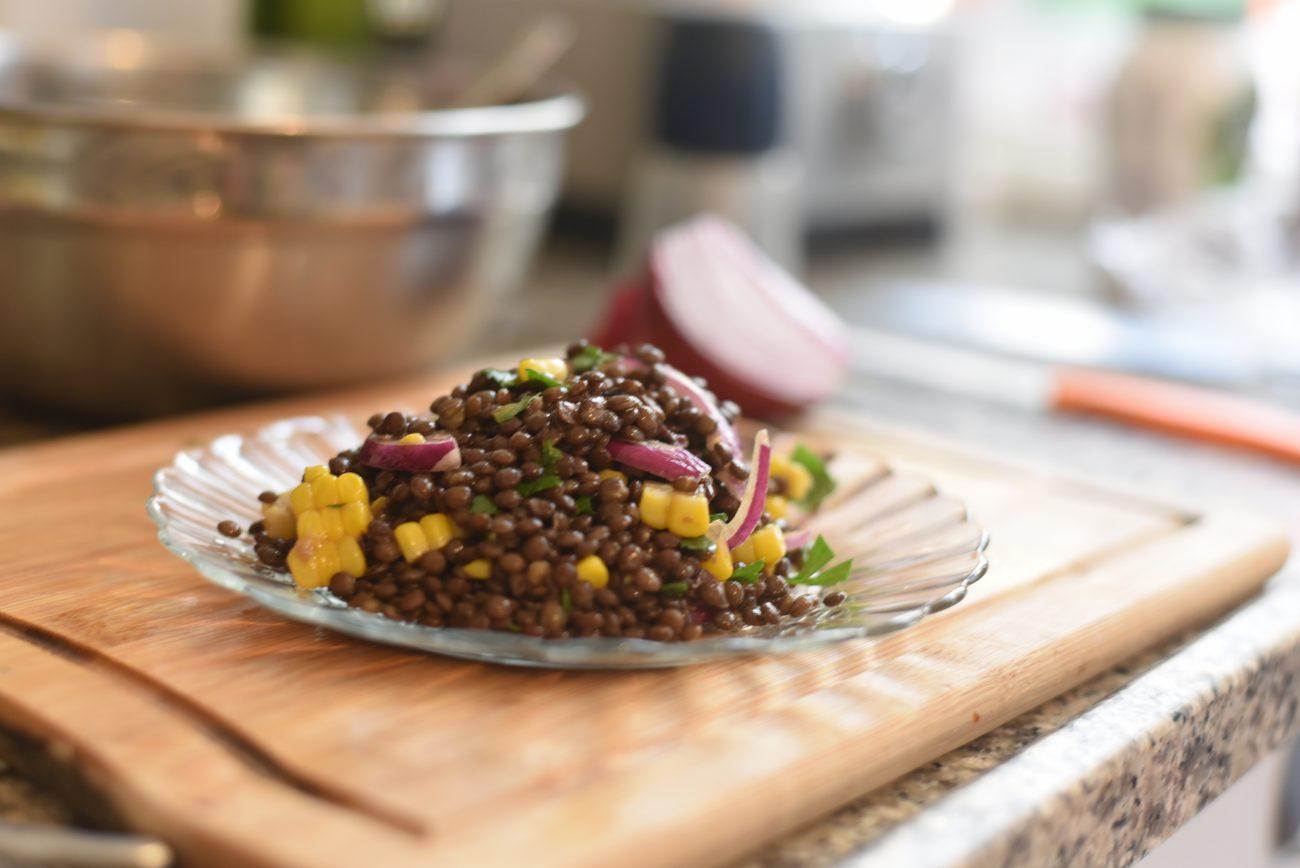 Lentils and Corn Salad