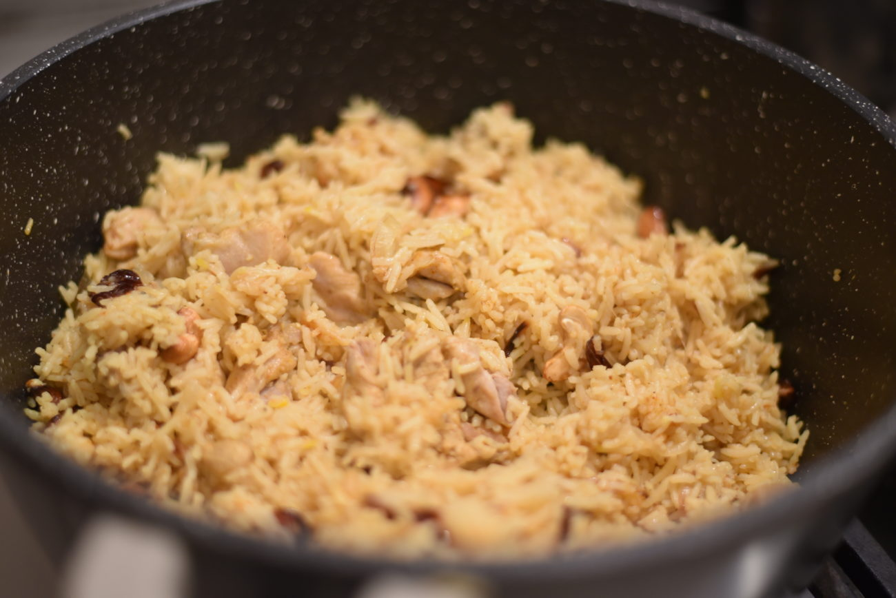 Indian rice with chicken and Saffron